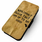 Up To No Good - Printed Faux Leather Flip Phone Cover Case - H.P Inspired