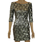 New Ladies Womens ex River Island Silver Sequin Bodycon Party Dress Girls Casual