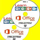 LEARN MICROSOFT OFFICE 2013 EFFECTIVE VIDEO TUTORIALS NEW 2 PCDVD WORD EXCEL Etc