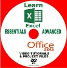 LEARN MICROSOFT OFFICE 2013 EXCEL BEGINNERS + ADVANCED VIDEO TRAINING PC DVD NEW