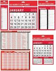 RED/BLACK - CALENDAR/PLANNER 2015 (Month to View) - Large Range of Styles/Sizes