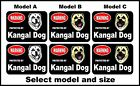 2 Warning protected by Kangal guard dog breed decals sticker stickers