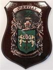 O'HAGAN to O'SHANESSY Family Name Crest on HANDPAINTED PLAQUE - Coat of Arms