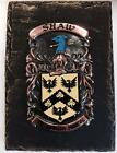 Your HANDPAINTED Name Crest on SLATE PLAQUE - Coat of Arms GARVIN to GILES