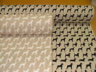 Mixed Dogs Linen Look Designer Fabric Curtain Upholstery Quilting Crafts Blinds
