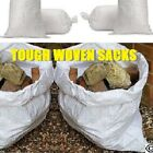 SUPER STRONG HEAVY DUTY WHITE WOVEN AGGREGATE RUBBLE BAG SACKS LARGE 52CM X 76CM