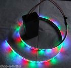 MULTICOLOURED RGB LED STRIP LIGHTS 9V PP3 BATTERY OPERATED CHOICE OF CONNECTORS