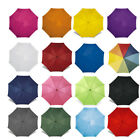 CLASSIC Automatic Umbrella with WOODEN Crook Handle - Wedding Brolly Walking NEW