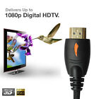 Premium HDMI Cable V1.4 w/Ethernet 3D For Bluray DVD HDTV XBOX LCD TV 25FT 10FT