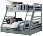 Triple Bunk - White Wooden Three Sleeper - Free Next Day Delivery 2 FREE PILLOWS