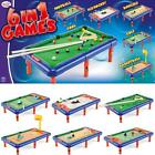 KIDS ACTIVITY GAMES 6 IN 1 FOOTBALL BASKETBALL POOL BOWLING HOCKEY GOLF GAMES