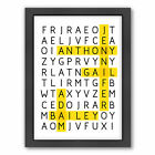 Americanflat Word Puzzle by Patricia Pino Framed Graphic Art