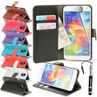 For Samsung Galaxy S5 Leather Case Wallet Credit Card Flip Kickstand Cover