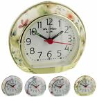 Wm.Widdop Floral / Flower Alarm Clock with Light, Snooze & Sweep Movement