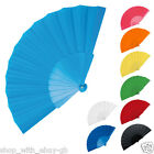 5 x Handheld Pretty Fan - Wedding Accssory & Favour Fabric Summer Keep Cool Hand