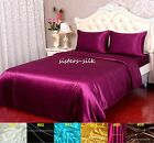 22 Momme 100% Pure Silk Duvet Cover Fitted Flat Sheet Pillowcase Set Size King