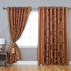 Best Home Fashion, Inc. Wide Width Damask Jacquard Grommet Curtain Panels
