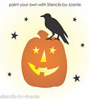 STENCIL Jack Pumpkin Prim Crow Stars Halloween Fall Harvest Country Craft Signs