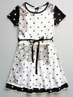Desigual Girls White and Black Cotton Jersey Short Sleeve Dress