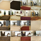 SMALL X LARGE SIZE 14mm SOFT RUG THICK CREAM BEIGE RED BROWN GREY MODERN RUGS