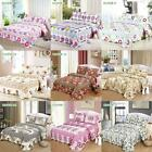 3Pcs Queen/King Size Bedding Set Coverlet Patchwork Quilt With Pillow Case Z2O7