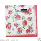 16 Pink Flower 17cm Napkins Serviettes Tableware Party Supplies Birthday Girl