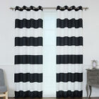 Best Home Fashion, Inc. Rugby Stripe Curtain Panels Set of 2