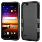 Black Gray Durable Hybrid Tuff Phone Case Cover Shock Absorbent Protector Shell
