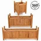 Wooden Garden Planters Outdoor Plants Flowers Pot Square Rectangular Display NEW