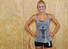 G2oh Blessed By The Sweat Angel Tank Top Crossfit Fitness Gym Workout Lifting