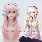 24 SUPERSONICO 60cm/24* Long Pink mix SUPERSONICO Cosplay Wig with Headphone