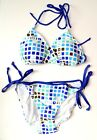 Protest Branded Woitek Curacao Women's Bikini WHT/BLUE/GREEN Various Sizes NEW