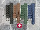 New 20mm Victorinox Swiss Army Genuine Rubber Strap Diver Watch Band Black Green