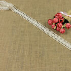 High Quality Ivory Crochet Lace Fabric Trim 12Yard Ribbon Sewing Wedding Dess