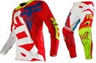 NEW 2016 FOX RACING 360 SHIV MX DIRT BIKE GEAR COMBO RED/ WHITE SIZE 34/LARGE