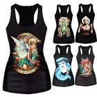 Women Print Cami Tank Top Vest Blouse Club Party Slim Sleeveless T-Shirt