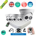 4 Channel AHD CCTV DVR Recorder with 1Mega Pixel 720P Dome Security Cameras