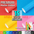 *Premium Matte Glitter Sparkle Vinyl Wrap Sticker Decal Sheet Bubble Free Film