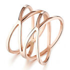 HOLLOW TWIST ROSE GOLD GP WRAP SURGICAL STAINLESS STEEL RING SIZE 5/6/7/8