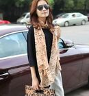 FD3478 Women Girl Lady Musical Note Black Chiffon Neck Scarf Shawl Muffler Long