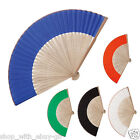 5 Colors Chinese Folding Wooden Bamboo Fan Hand Loot Fans Wedding Party Favors