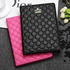 lovely Crown Leather Smart Case Stand Cover for Apple iPad2 3 4 5 Air Air 2 mini