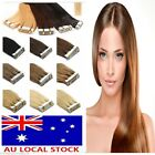 """Premium 16""""-22"""" Seamless Tape In Skin Weft Remy Human Hair Extensions AU Stock"""