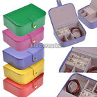 Hot Colors PU Leather Portable Jewelry Display Holder Storage Case Organizer Box