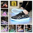 New Unisex Couple Women /Men's Star Led Light Up luminous Casual Shoes Sneakers