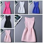 Womens Party Sleeveless Evening Cocktail Flared Ladies Mini Dress