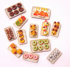 1:12 Dolls House Miniature Hand Made Cakes On A Ceramic Plate Shop Accessory