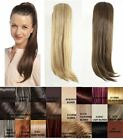 "NEW LADIES TULIP STRAIGHT CLIP IN PONYTAIL 24"" UK SELLER HAIR EXTENSION B8968"