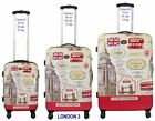 XL Reisekoffer Fluggepäck Trolley Koffer Designerprint LONDON-UNION JACK Set Neu mit Etikett