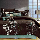 Bliss Garden Brown Comforter Bed In A Bag Set 8 Piece